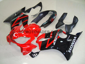 Honda CBR 600F4I 2004-2007 Red & Black Turkey Flag Fairing