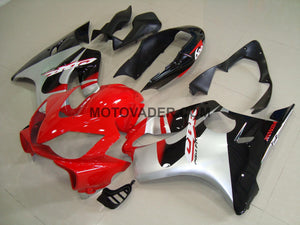 Honda CBR 600F4I 2004-2007 Red & Silver & Black 2 Fairing