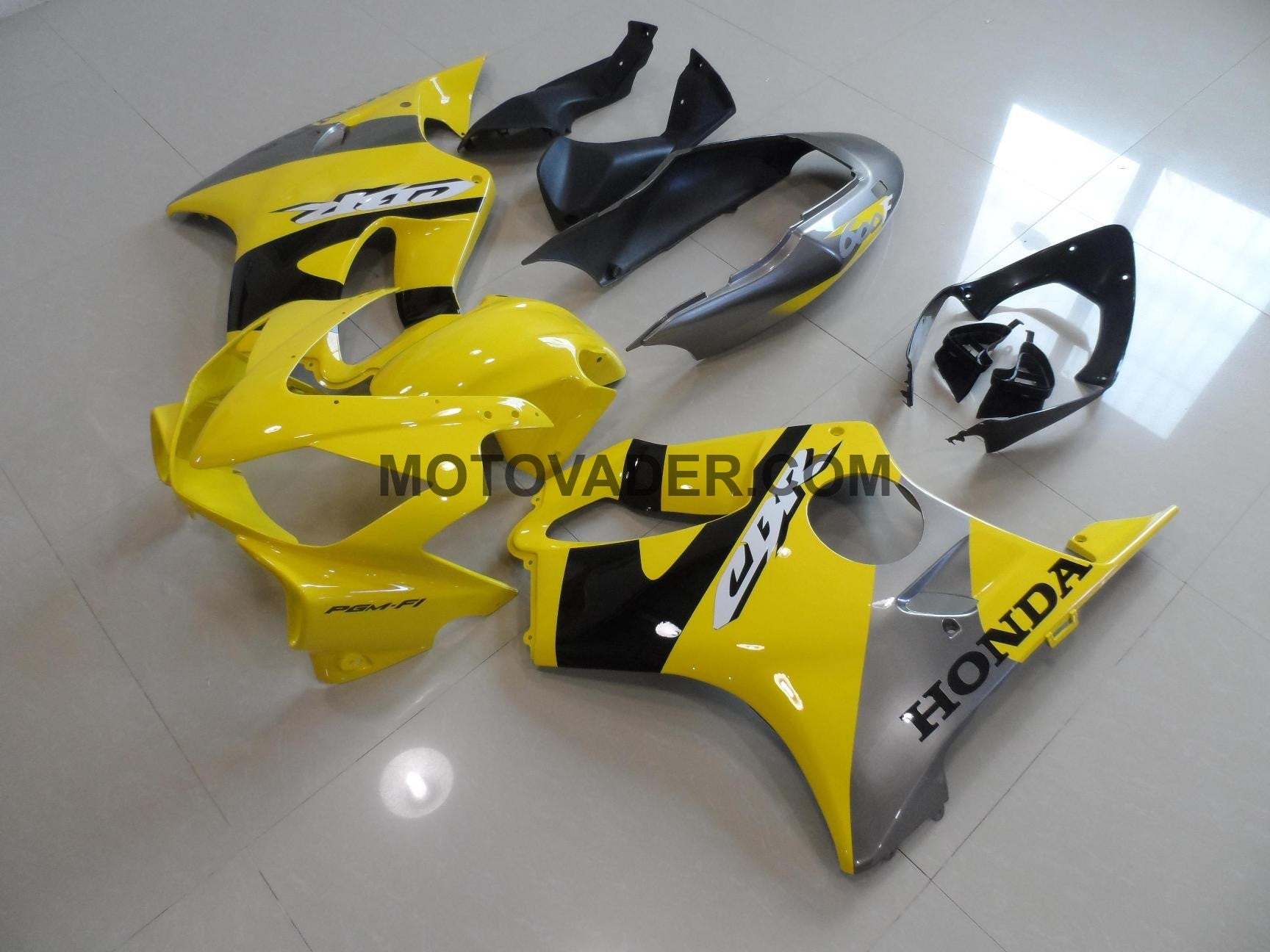 Honda CBR 600F4I 2004-2007 Yellow & Grey Fairing