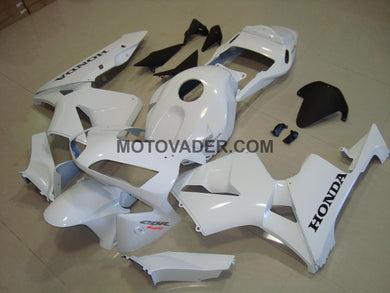 Honda CBR 600RR 2003-2004 All White & Black Decal Fairing