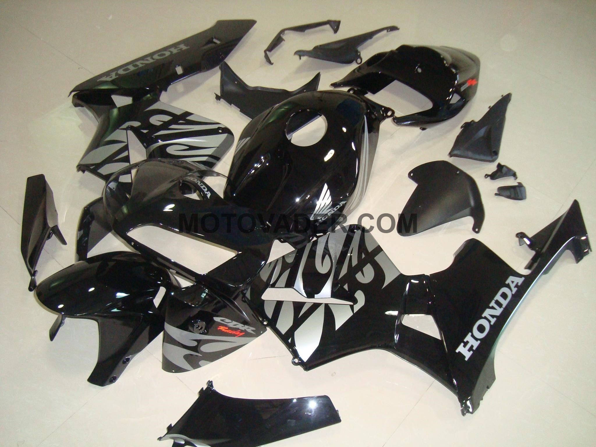 Honda CBR 600RR 2005-2006 Black & White Flame 2 Fairing