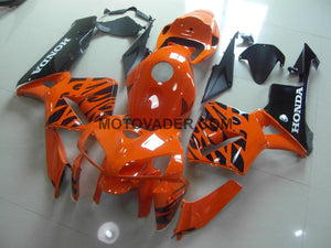 Honda CBR 600RR 2005-2006 Orange & Black Flame Fairing