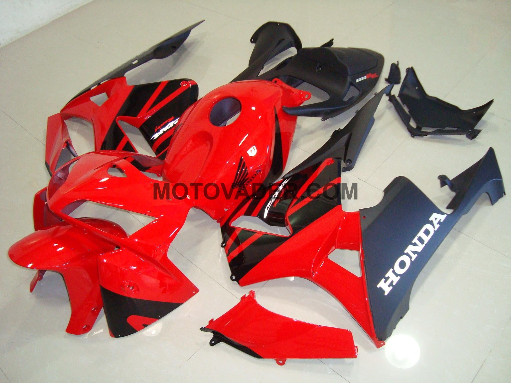 Honda CBR 600RR 2005-2006 Red & Black 2 Fairing