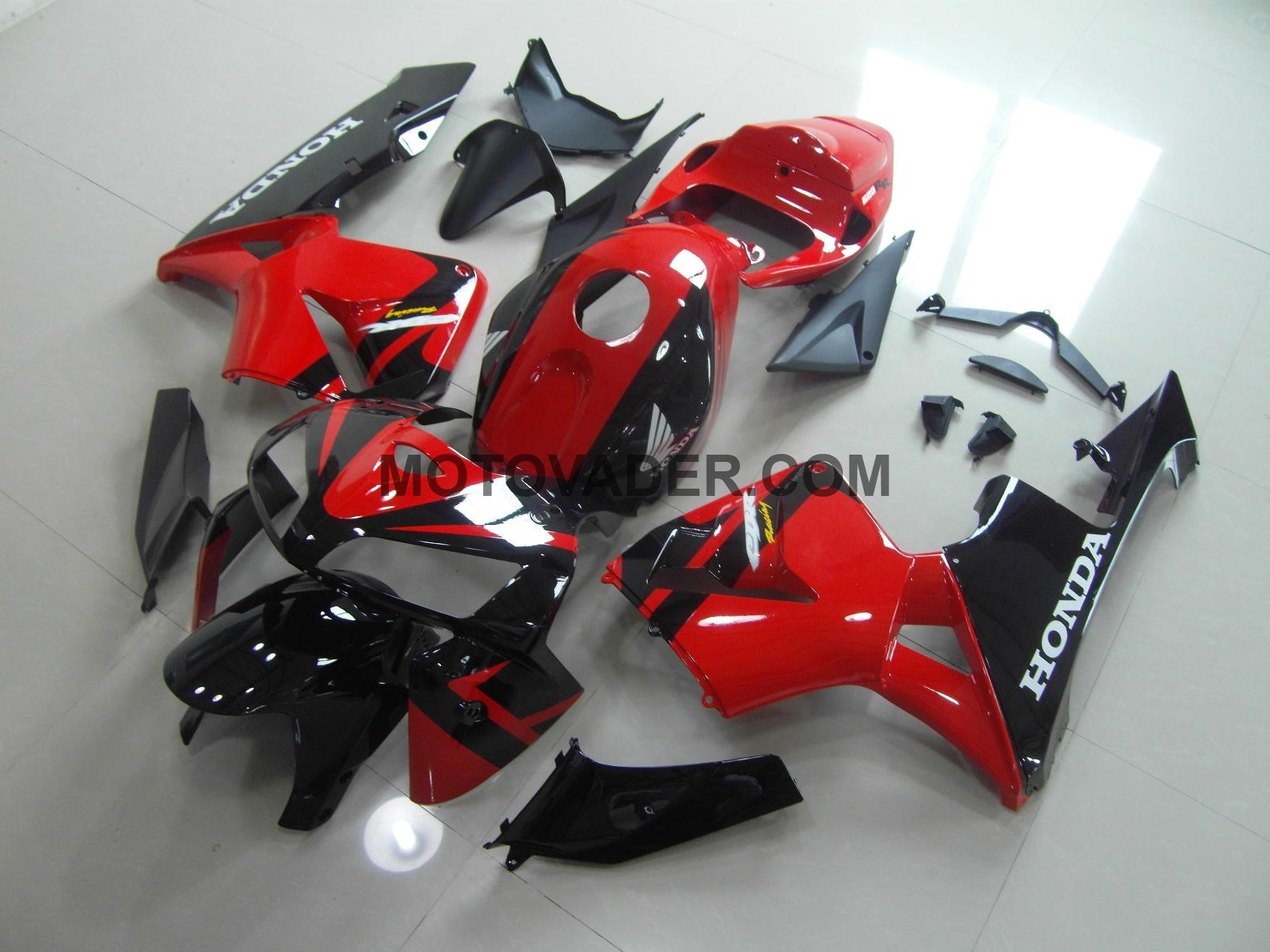 Honda CBR 600RR 2005-2006 Red & Black  Fairing