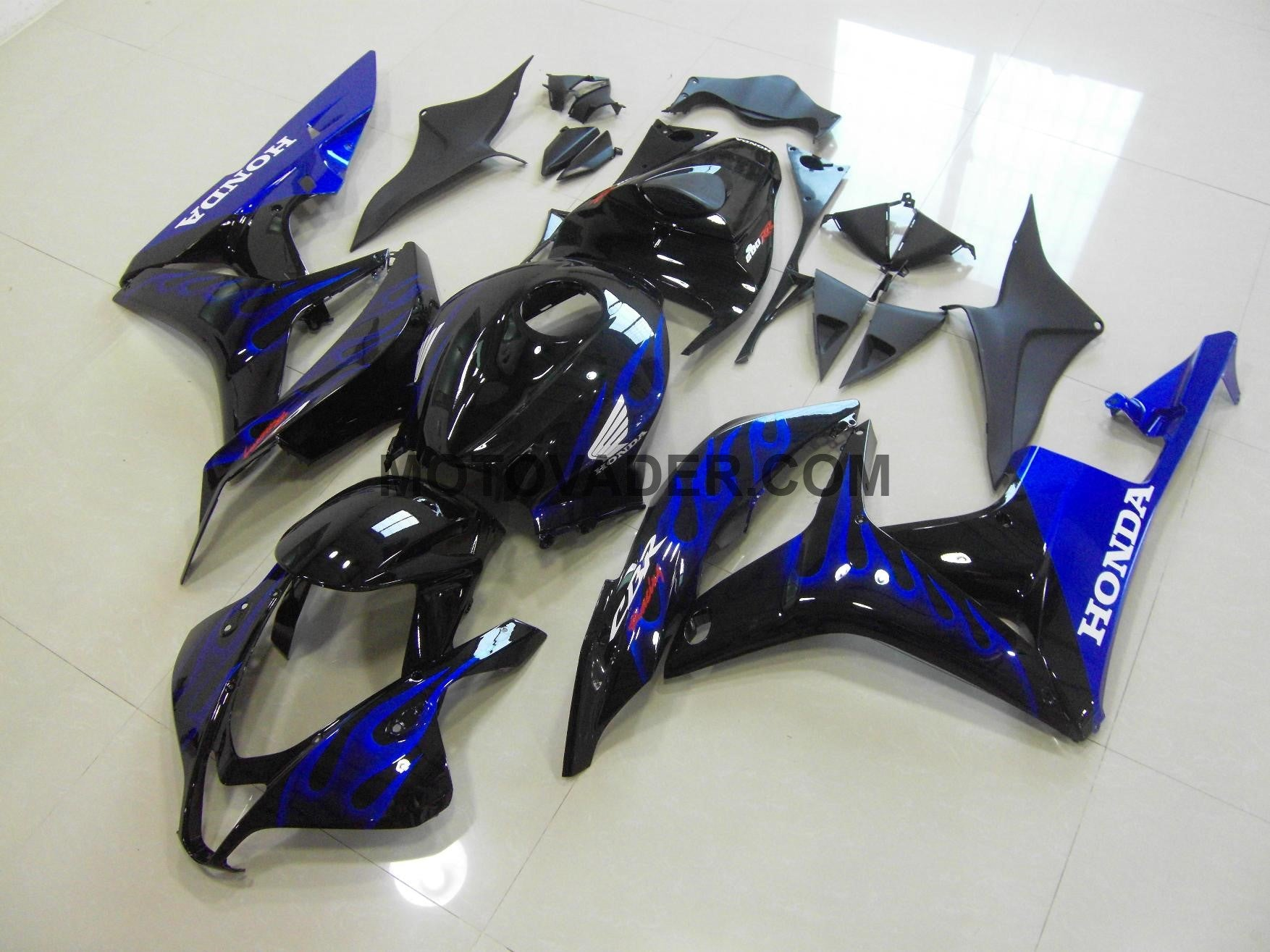 Honda CBR 600RR 2007-2008 Black & Blue Flame  Fairing