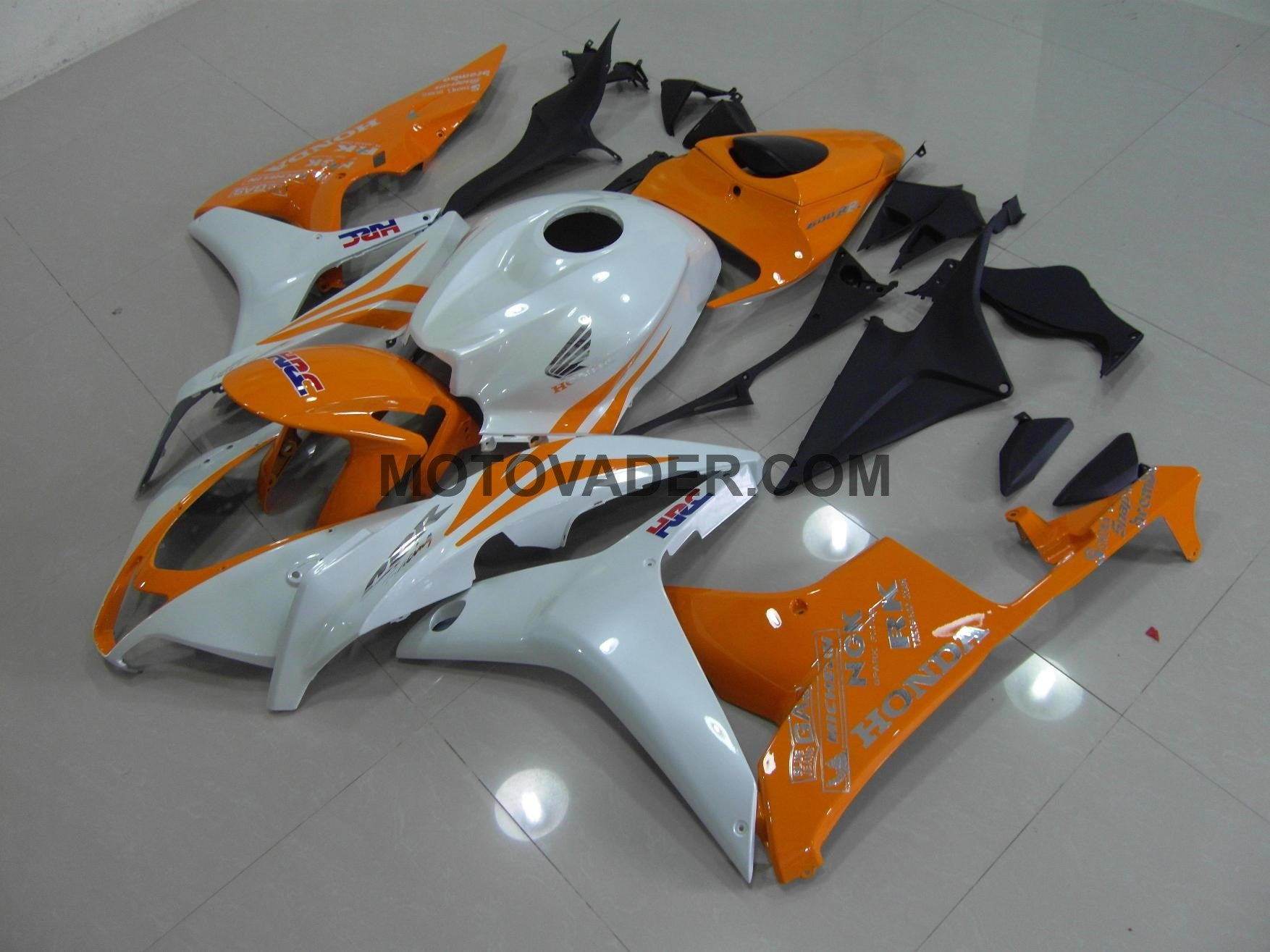 Honda CBR 600RR 2007-2008 Pearl White & Orange Fairing