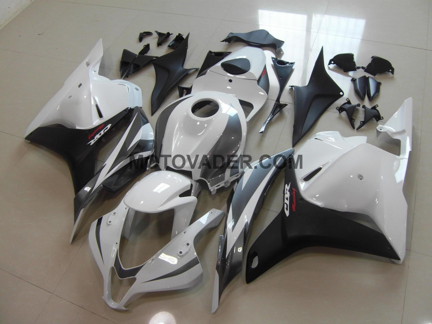Honda CBR 600RR 2009-2012 White & Black Grey  Fairing