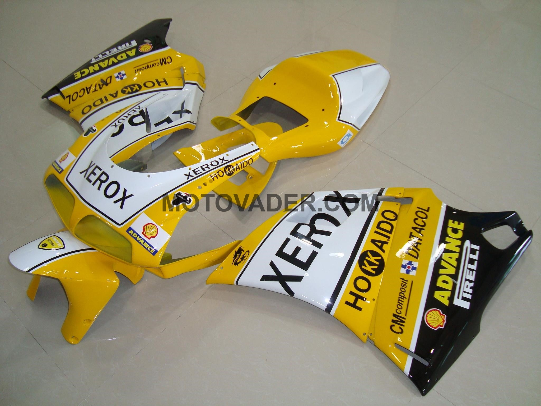 Ducati 996 1998-2002 Yellow & Black Decals Fairing