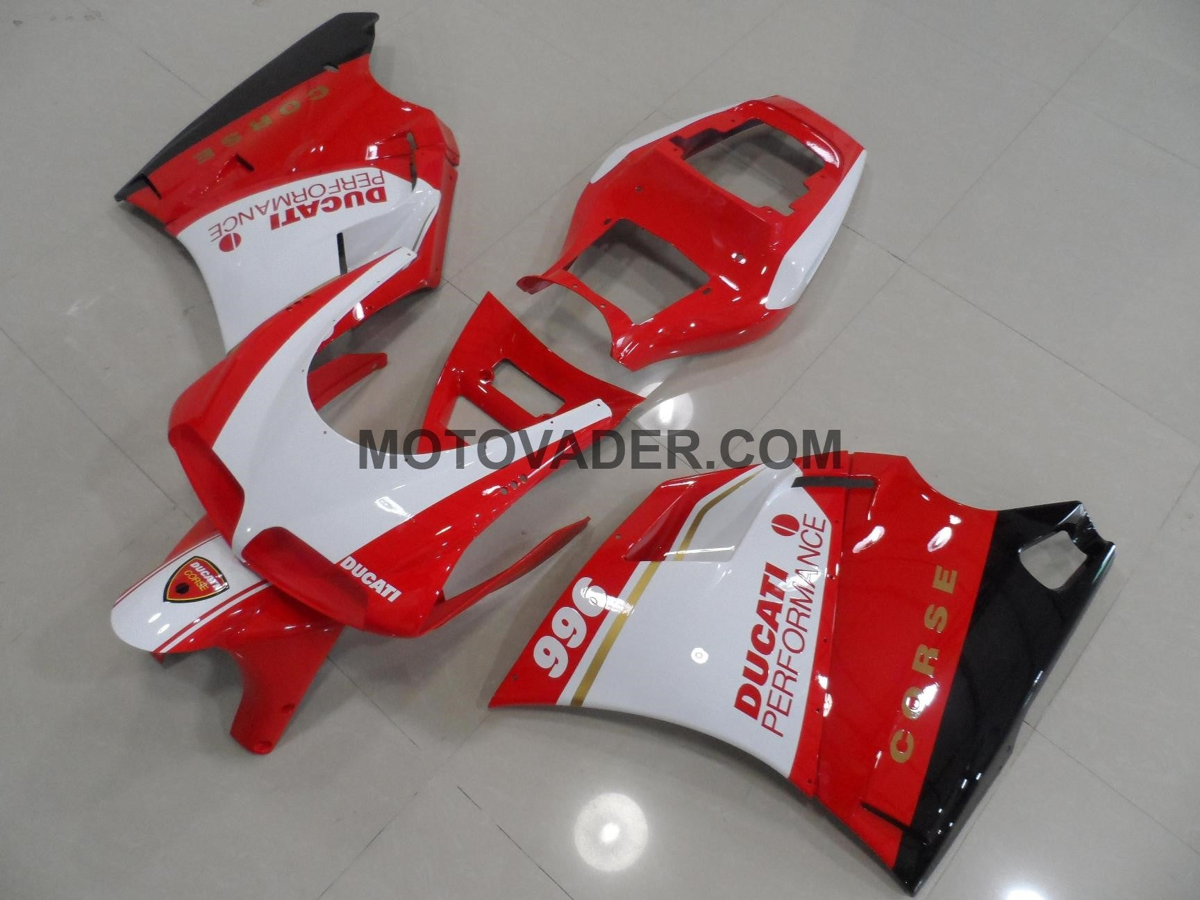 Ducati 748 Red & White Crose Fairing