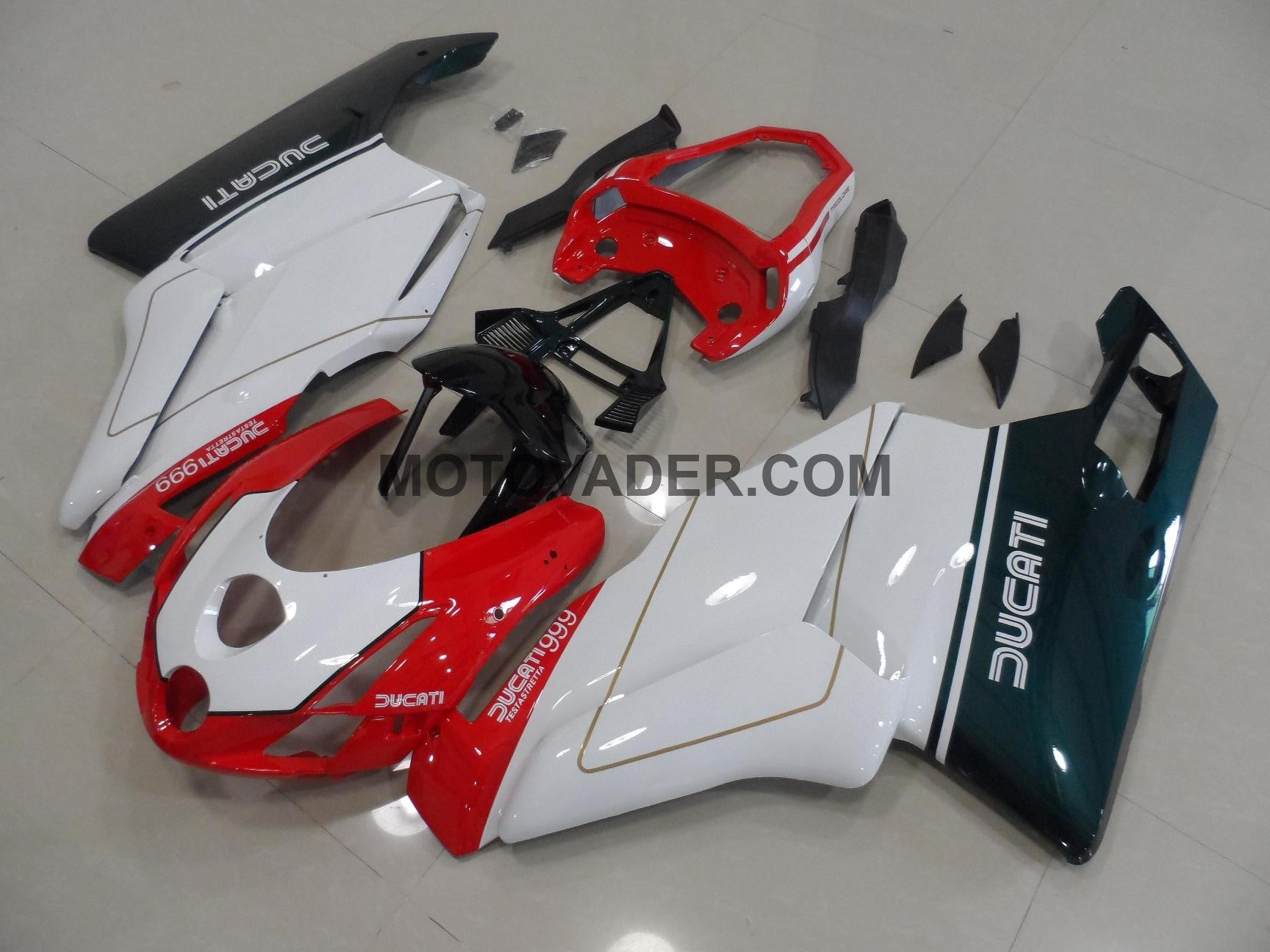 Ducati 999 2003-2004 Tricolor With Tail Open Fairing