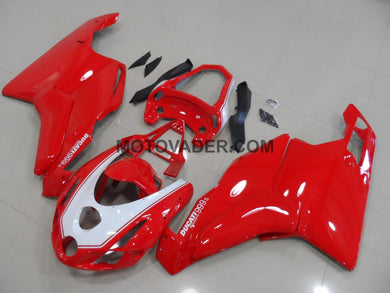 Ducati 749 2003-2004 White & Red With Tail Open Fairing