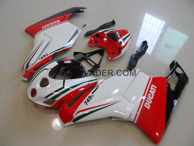 Ducati 749 2005-2006 White & Red Fairing