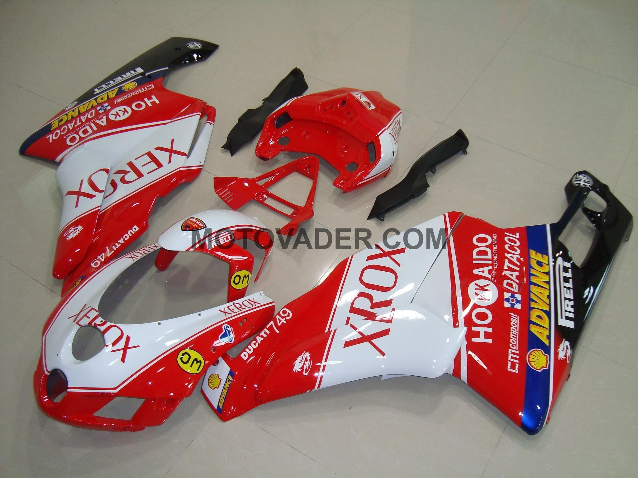 Ducati 999 2005-2006 Xerox Red & White 2 Fairing