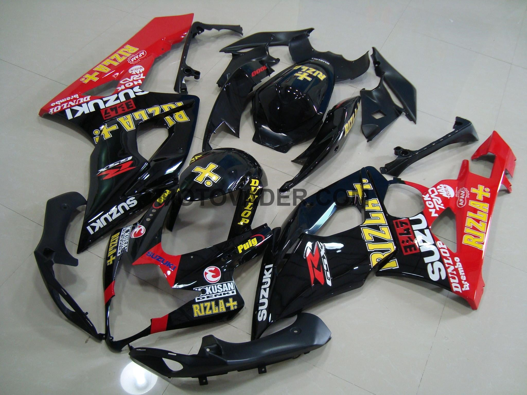 Suzuki GSXR 1000 2005-2006 Black & Red Rizla 4 Fairing