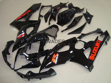 Suzuki GSXR 1000 2005-2006 Gloss Black Red Sticker Fairing
