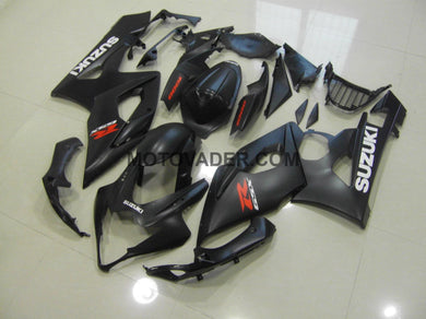 Suzuki GSXR 1000 2005-2006 Matt Black With White Decals Fairing