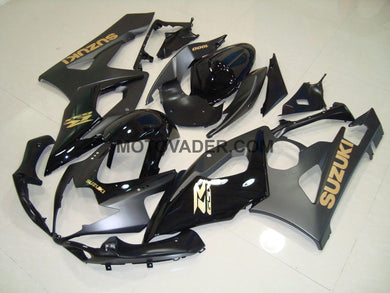 Suzuki GSXR 1000 2005-2006 Matt & Gloss Black With Gold Decals Fairing