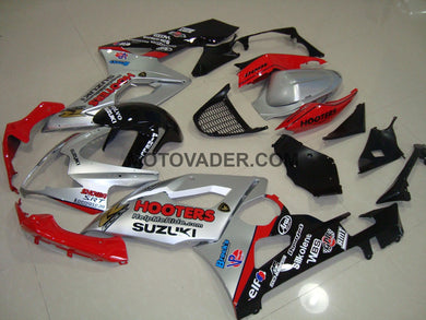 Suzuki GSXR 1000 2005-2006 Silver & Red Fairing