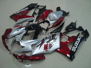 Suzuki GSXR 1000 2005-2006 Silver & Red 2 Fairing