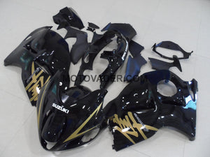 Suzuki GSXR 1300 Hayabusa 1999-2007 Black & Gold Sticker Fairing