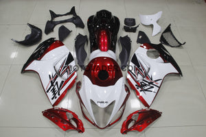 Suzuki GSXR 1300 Hayabusa 2008-2013 White & Dark Red With Tank Cover Fairing