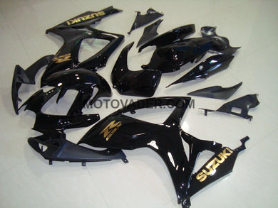Suzuki GSXR 600 2006-2007 Gold Decals 2 Fairing