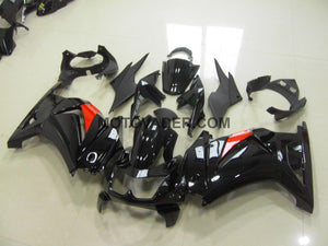 Kawasaki Ninja 250R 2008-2012 Black & Red Strip Fairing