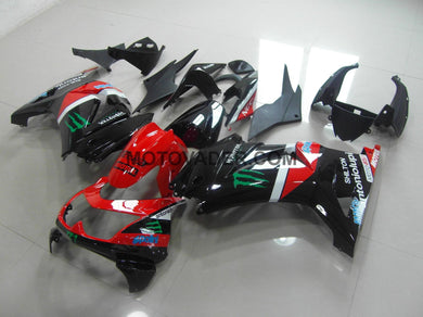 Kawasaki Ninja 250R 2008-2012 Red & Black Monster  Fairing