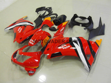 Kawasaki Ninja 250R 2008-2012 Red & Black 2 Fairing