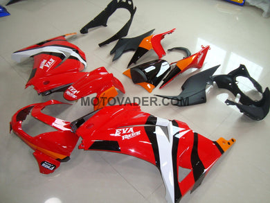 Kawasaki Ninja 250R 2008-2012 Red & Black Fairing