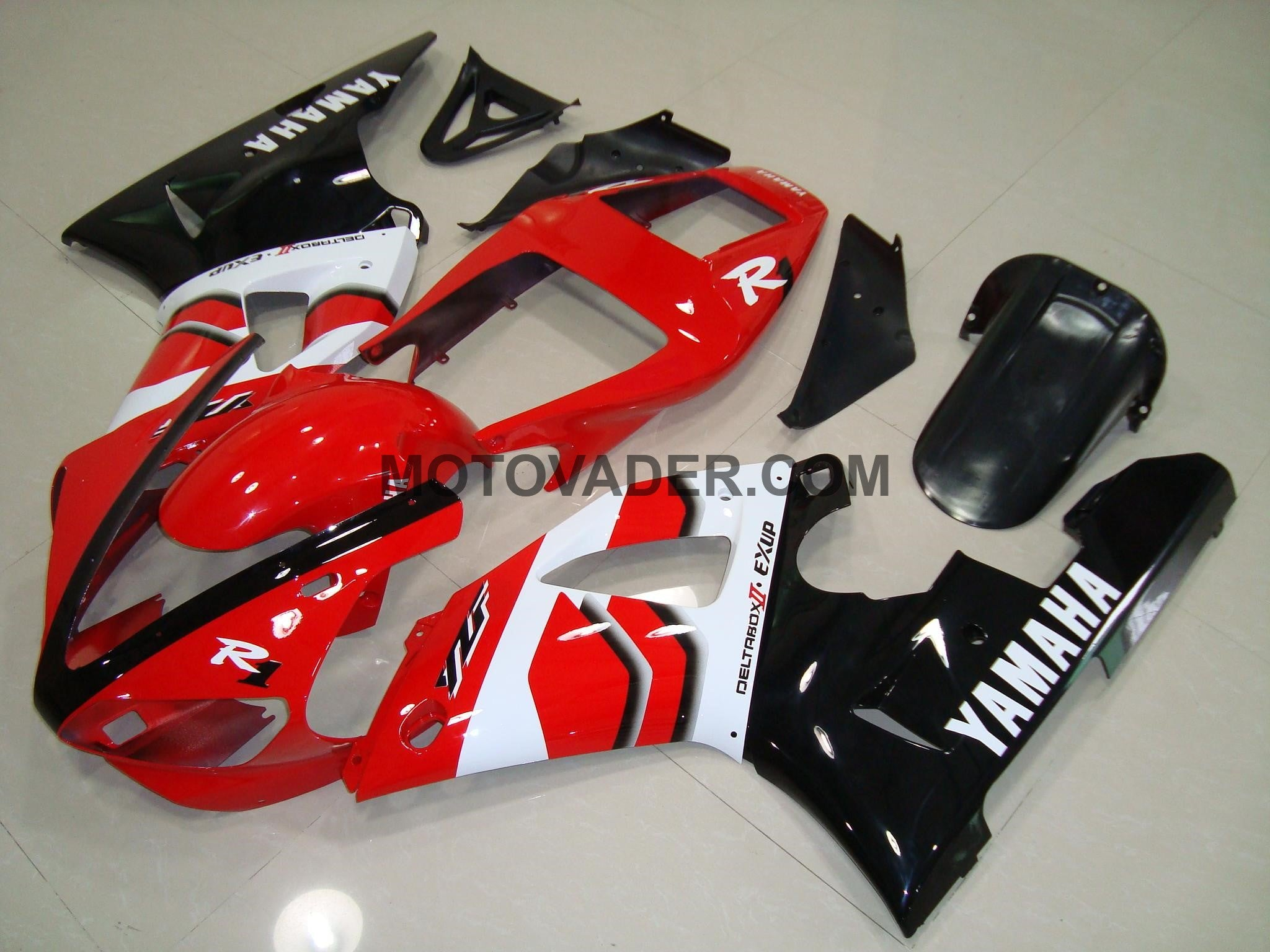 Yamaha R1 1998-1999 Red & Black 3 Fairing