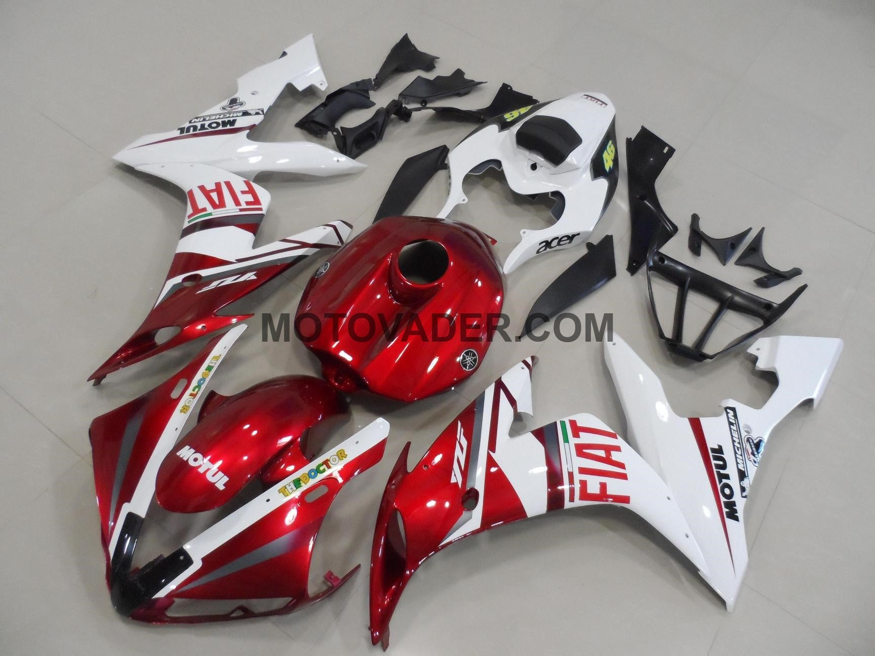 Yamaha R1 2004-2006 Red Fait With Full Tank Cover Fairing