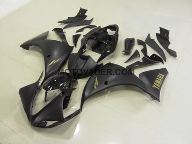 Yamaha R1 2009-2011 Matt Black With Gold Sticker Fairing
