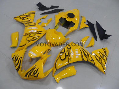 Yamaha R1 2009-2011 Yellow & Black Flame Fairing
