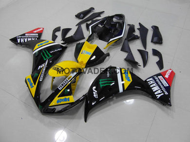 Yamaha R1 2009-2011 Yellow & Black Monster Fairing