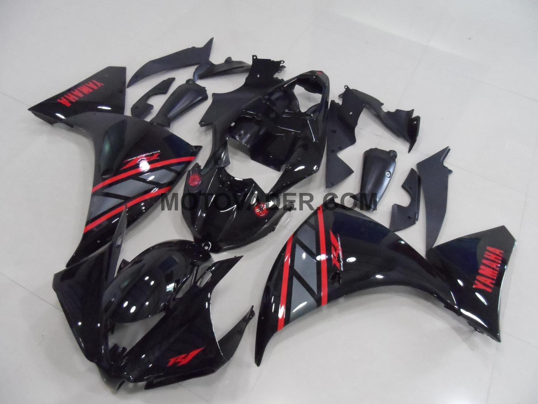 Yamaha R1 2012-2013 Black & Red Decals Fairing