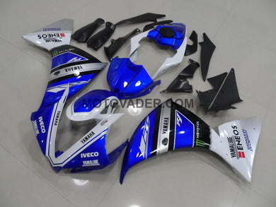 Yamaha R1 2012-2013 Blue & White Fairing