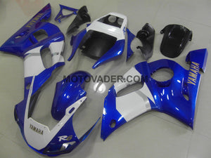 Yamaha R6 1999-2002 Blue & White With Gold Sticker Fairing