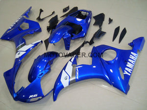 Yamaha R6 2003-2005 Blue 3 Fairing