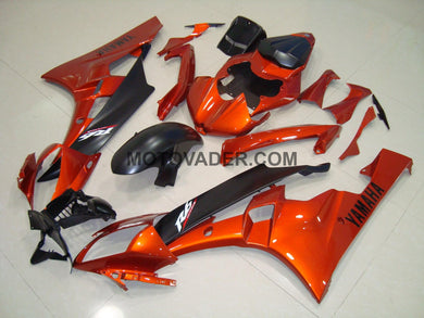 Yamaha R6 2006-2007 Orange & Matt Black Fairing