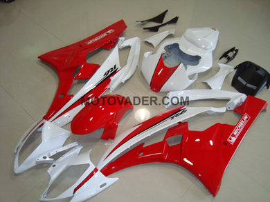 Yamaha R6 2006-2007 Red & White 5 Fairing