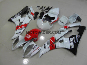 Yamaha R6 2006-2007 Red & White & Black 2 Fairing