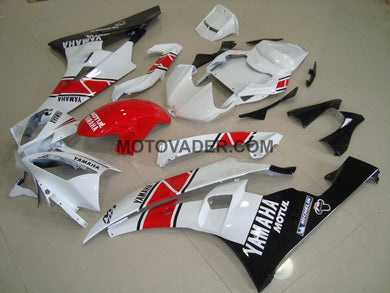 Yamaha R6 2006-2007 Red & White & Black Fairing