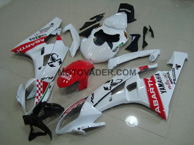 Yamaha R6 2006-2007 White & Red Abarth Fairing