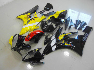 Yamaha R6 2006-2007 Sun & Moon Yellow Black Fairing