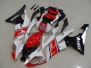Yamaha R6 2008-2013 Red & White & Black Fairing