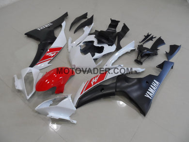 Yamaha R6 2008-2013 White & Matt Black Fairing
