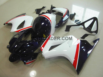 Honda VFR 800 2002-2012 White & Dark Blue Fairing