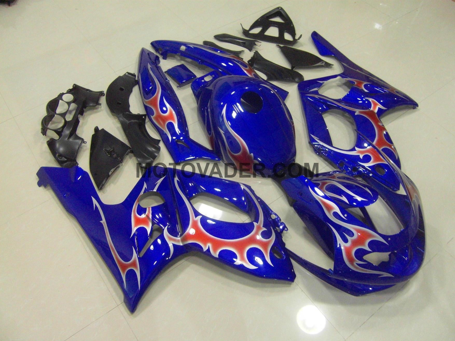 Yamaha YZF 600 1997-2007 Blue With Flames Fairing