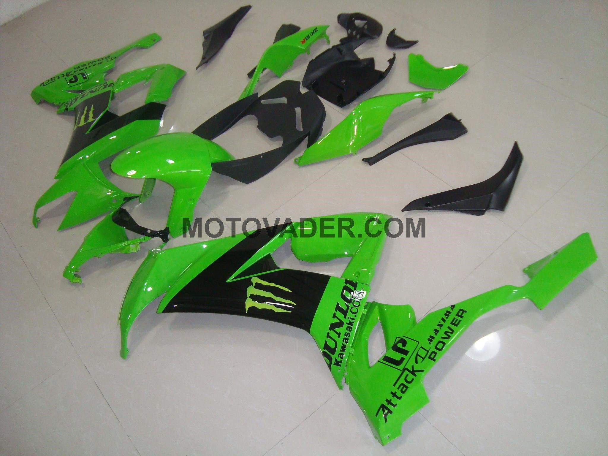 Kawasaki ZX-10R 2008-2010 Green Monster 1 Fairing